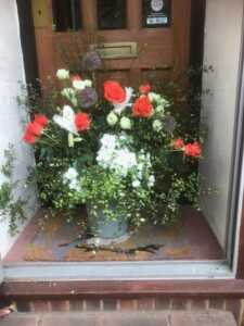 Flowers on the Doors Festival 2020, Church Road, Sundridge