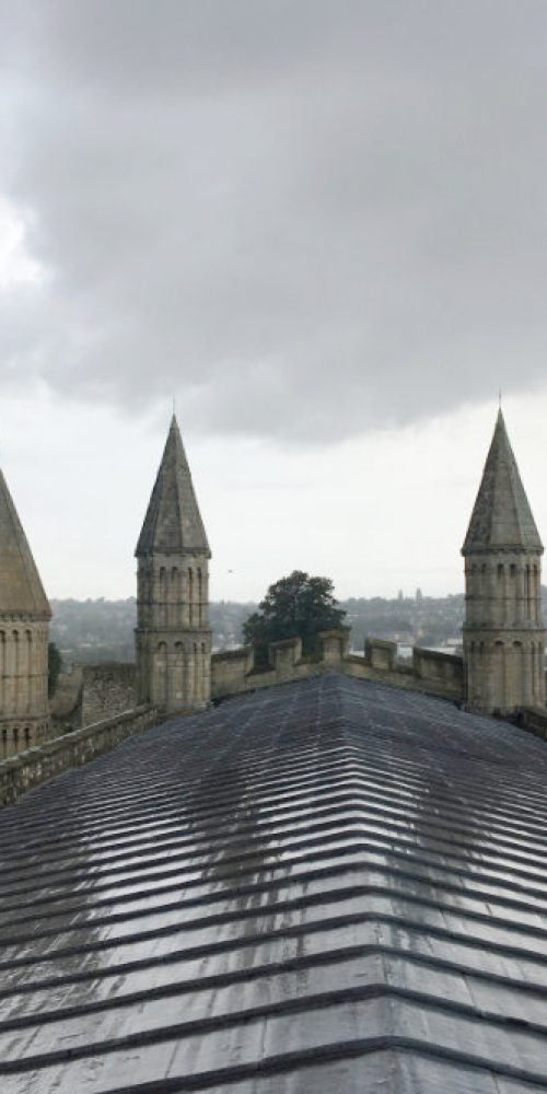 Rochester Cathedral roof top 4