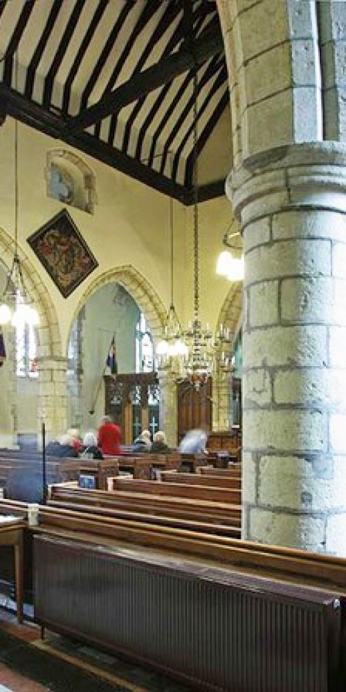 St Mary's interior, overlooking font B